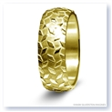 Mark Silverstein Imagines 14K Yellow Gold Diamond Plate Design Men's Wedding Band