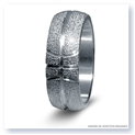 Mark Silverstein Imagines Sterling Silver Basketball Themed Men's Wedding Band